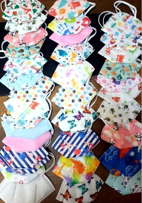 Máscara infantil FFP2 máscaras faciais coloridas com EN149  - Máscara infantil FFP2 máscaras faciais coloridas EN149 FFP2 5 camadas