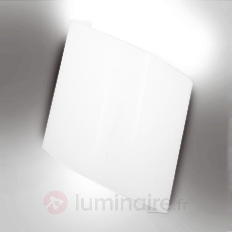 Applique blanche Flag - Appliques en verre