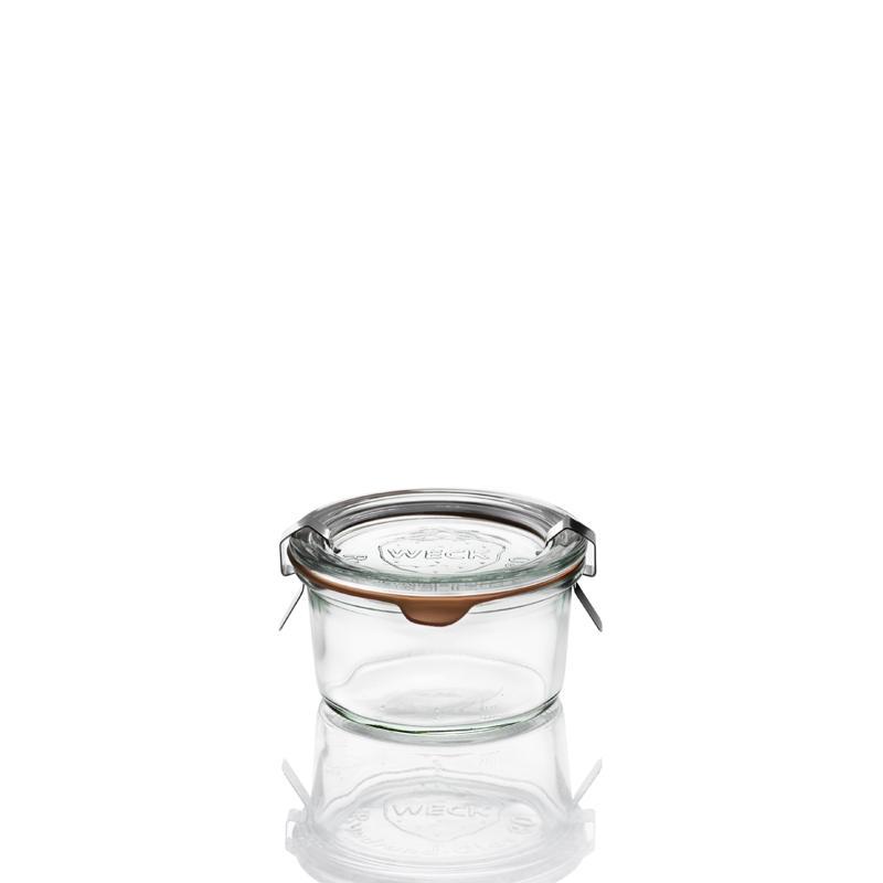 WECK® STORT Glazen - 12 Weck-Bekertjes in speciaal glas vette Lever, 165 ml In glas en samengevoegd