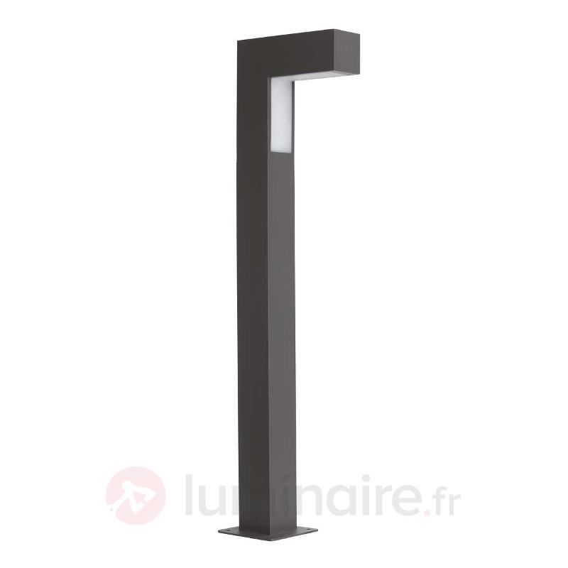 Borne lumineuse LED ASHTON noire - Luminaires pour socle LED