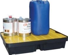 Bac de rétention avec caillebotis polyéthylène -... - BRP40L Bacs de rétention acier et plastique