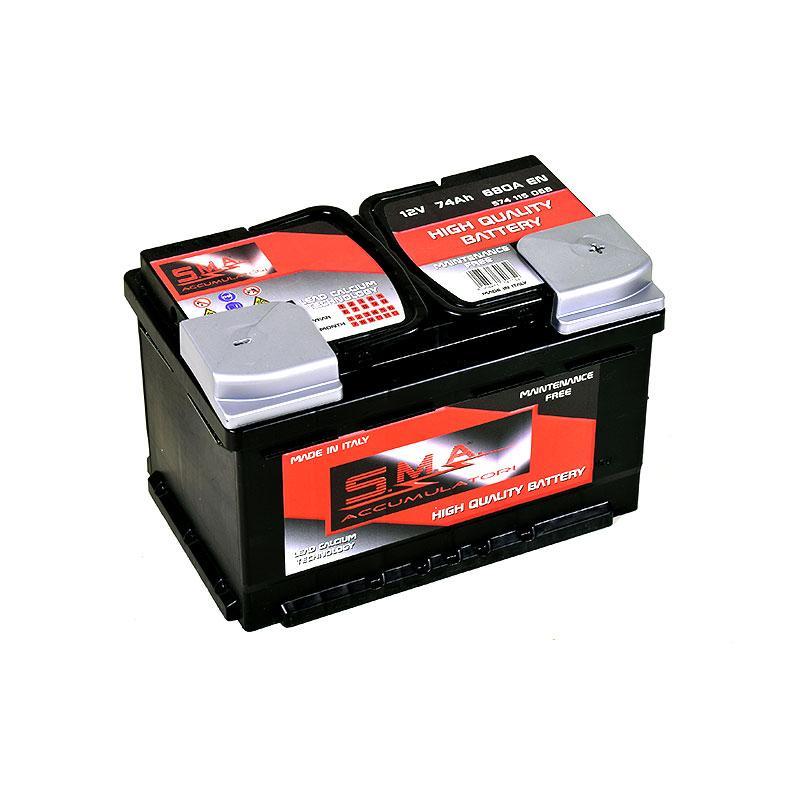 Batteria per auto 74 ah, L3, bassa, dx - Batteria per auto 74 ah alta qualità - Serie DIN