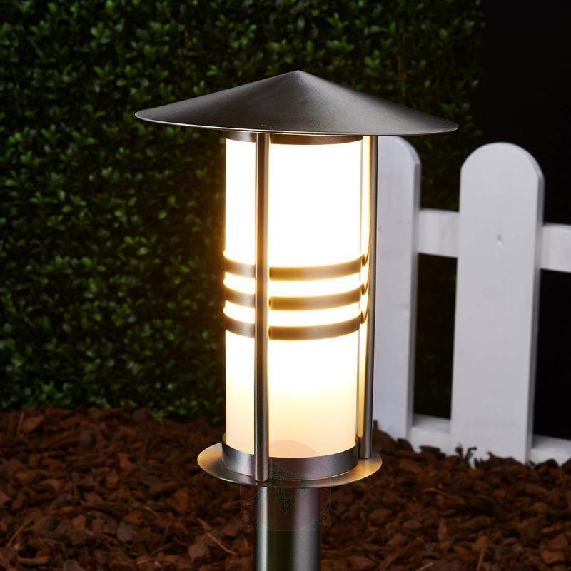Erina Stainless Steel Pillar Lamp - Pillar Lights