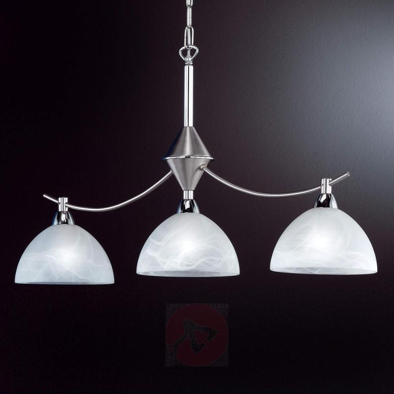 Amsterdam Hanging Light Three Bulbs Matte Nickel - design-hotel-lighting