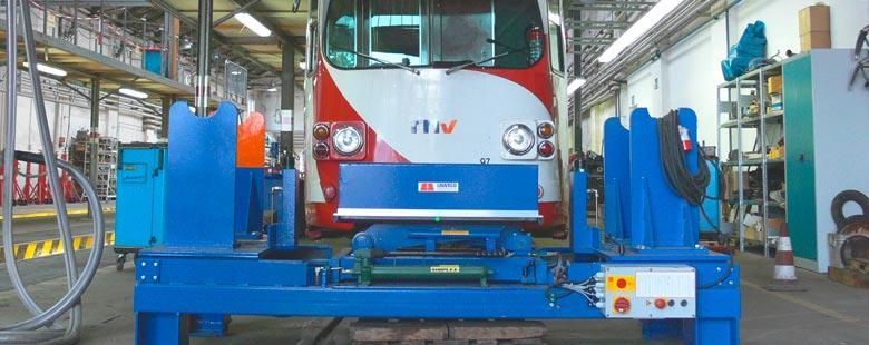 Inline lift platforms - Railway technology