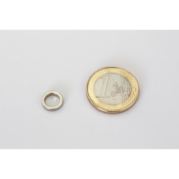 Neodymium ring magnet, 9,5/6,5mm, height 2mm, N42,... - null