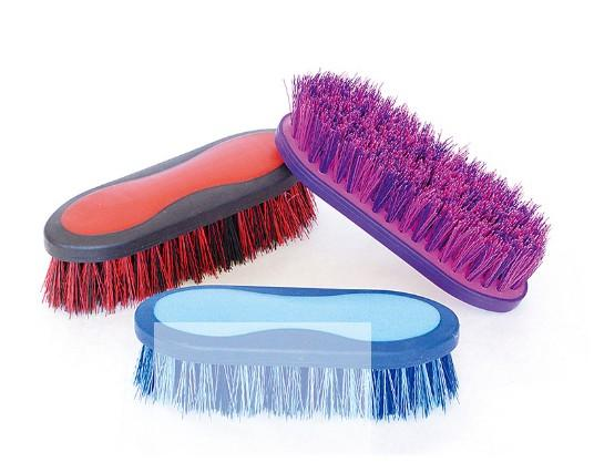 20.5×6.5cm horse grooming cleaning brush,pet body brush - horse body brush / horse grooming brush/horse plastic dandy brush
