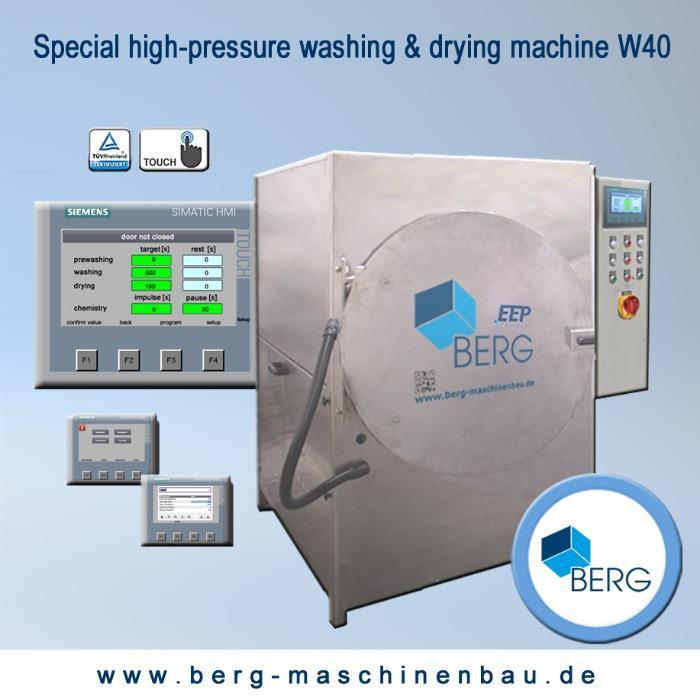 Installation de lavage & de séchage à haute pression W40 - pour un nettoyage efficace des élastomères médicaux et techniques