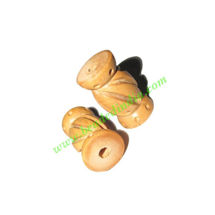 Natural Color Wooden Beads, size 13x23mm, weight approx 1.65 - Natural Color Wooden Beads, size 13x23mm, weight approx 1.65 grams