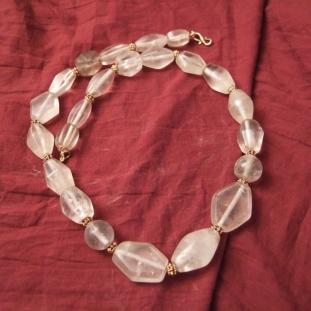 Colliers - Or20ct, cristal de roche, Iran