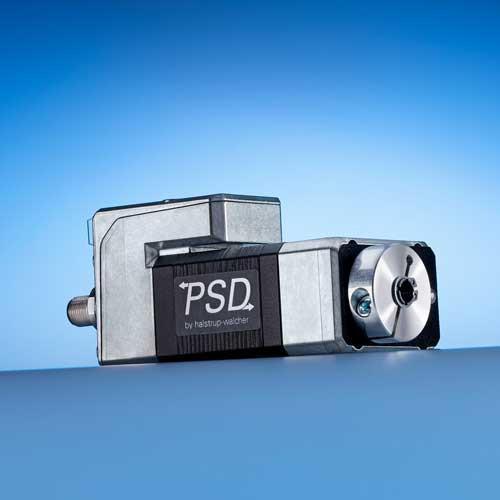 Direct Drive PSD 41 - Attuatori con direct drive con Nema 17, disegno longitudinale