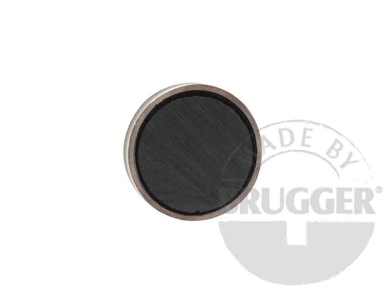 Flat pot magnets hard ferrite, with screwed bush - null