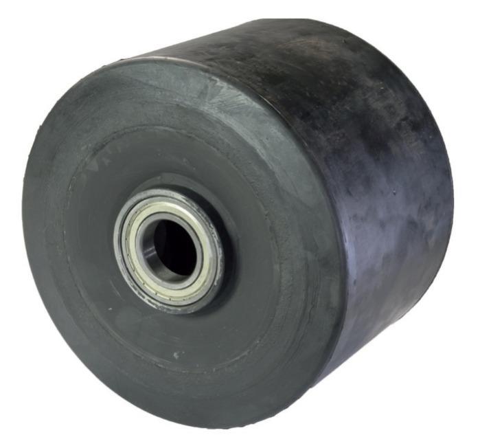 Ruota in gomma piena per alte portate con nucleo in acciaio  -