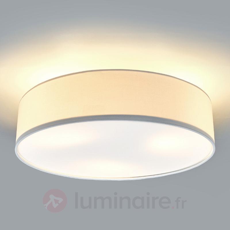 Plafonnier LED Sebatin en tissu de couleur crème - Plafonniers en tissu