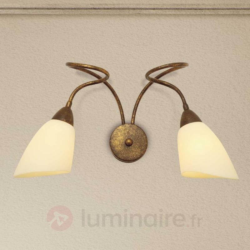 Applique Alessandro à 2 lampes - Appliques rustiques