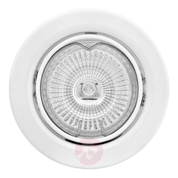 Flexible high volt recessed spotlight MAL white - High-Voltage Spotlights