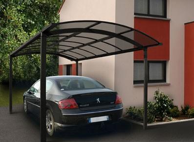 Abri voiture en métal - 4 pieds symétriques