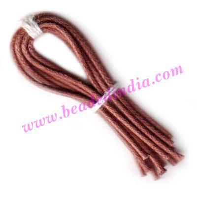 Cotton Wax Cords 1.0mm (one mm) Round