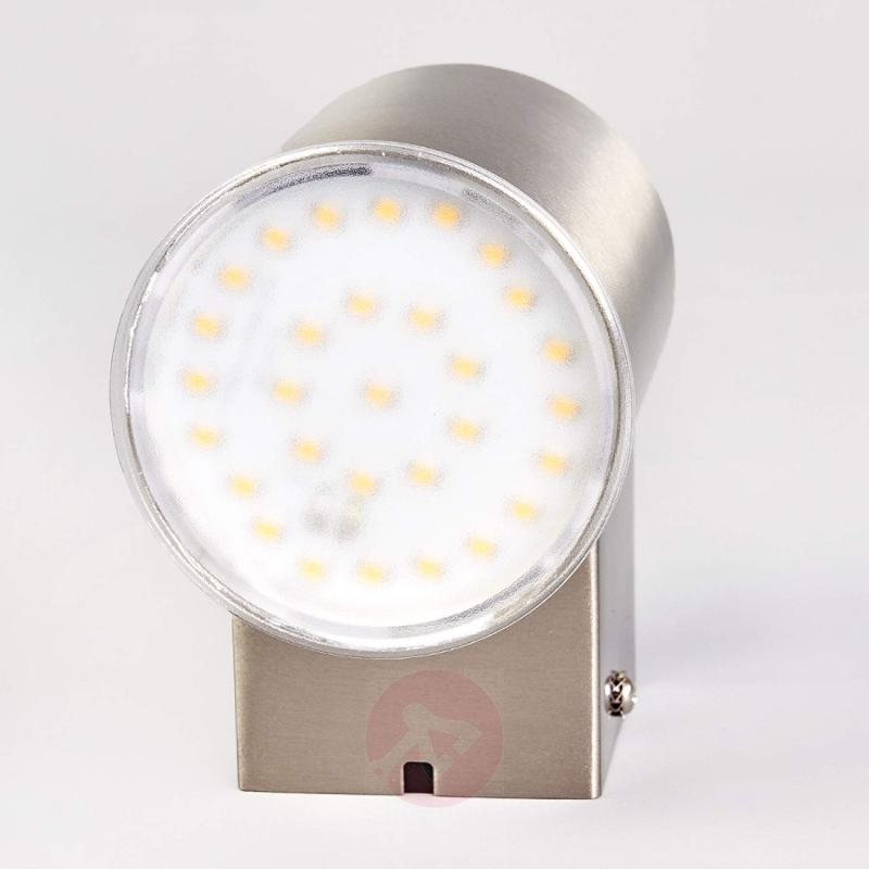 Round Morena LED stainless steel wall light - stainless-steel-outdoor-wall-lights