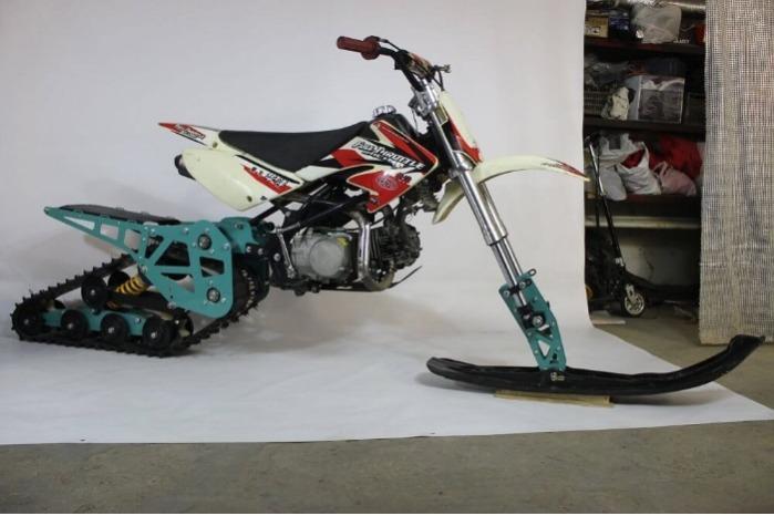 Snowbike KIT for motorcycle Pitbike - Kit for converting motorcycle Pitbike to snowbikes