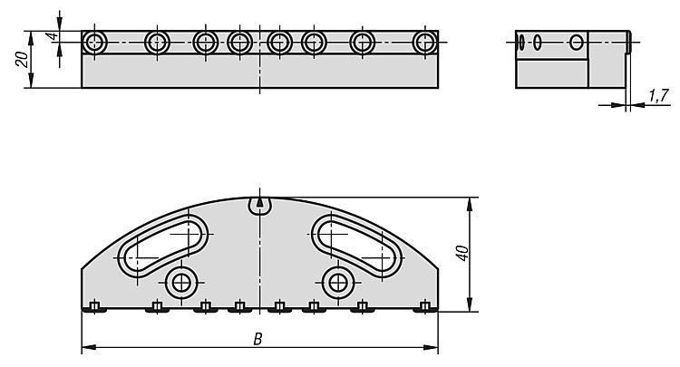 Mors de serrage avec pointes pour mors oscillant - Etau de bridage 5 axes compact