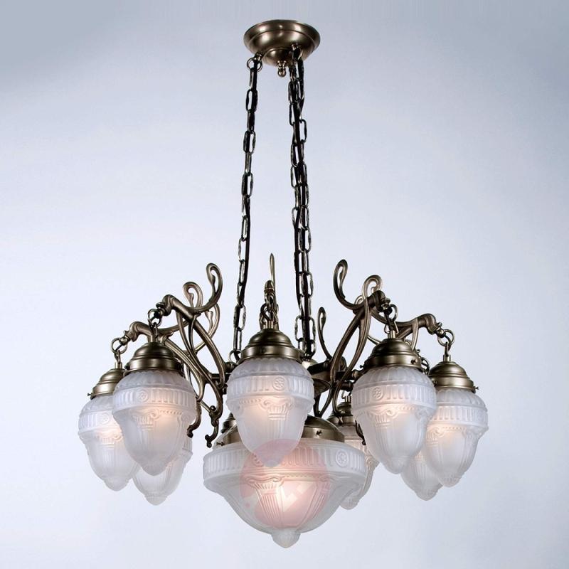 ARNO multi-bulb hanging light handmade - design-hotel-lighting