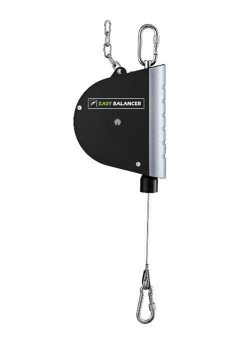 Retractor Type ER11 - Load range: 0,5 - 5,5 kg | Cable travel: 2,5 m
