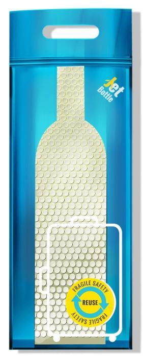 Иновативна опаковка. Jetbottle - Безопасно за бутилки и всички ваши вещи