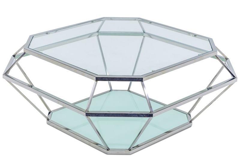 """Журнальный столик """"Diamanto"""" Lareto - Журнальный столик из металла и стекла"""