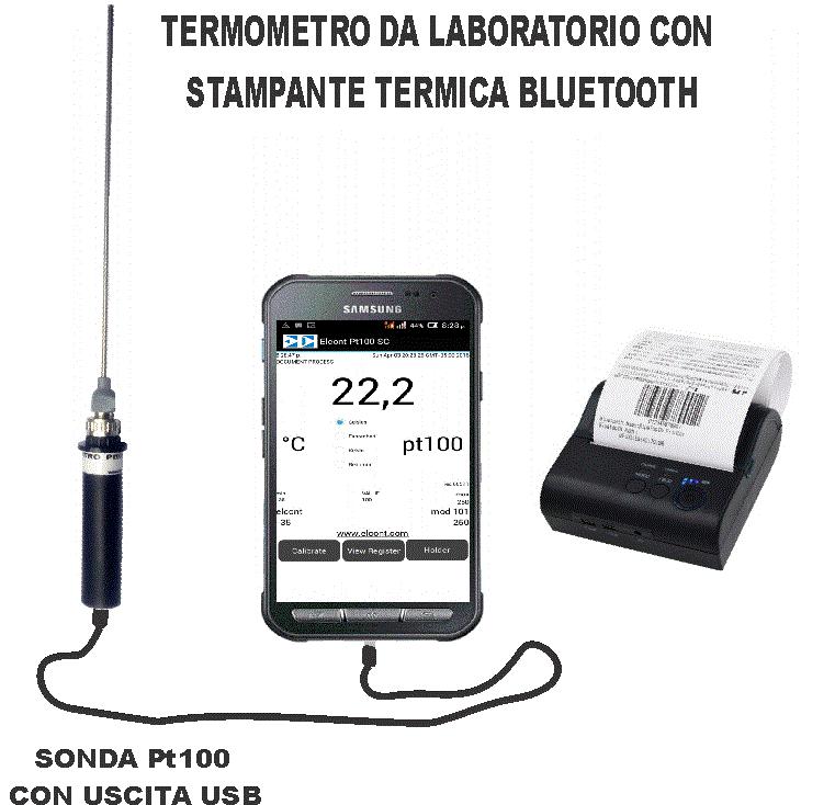 termometro Pt100 digitale datalogger