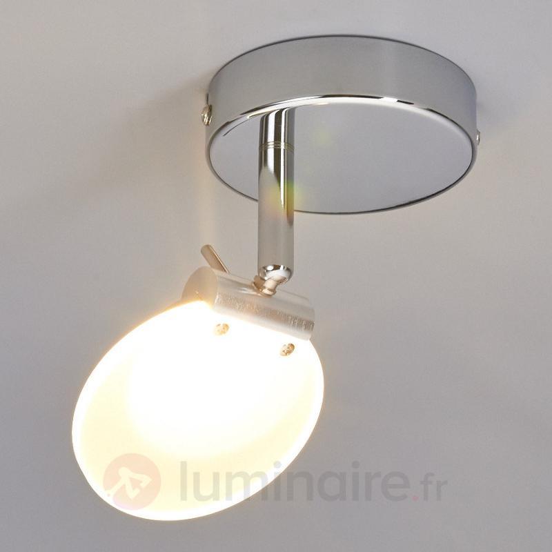Spot de plafond LED Sena à plaque en verre - Plafonniers LED