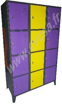Haute sécurité - 4 cases sur la hauteur Réf. 4 cases - null
