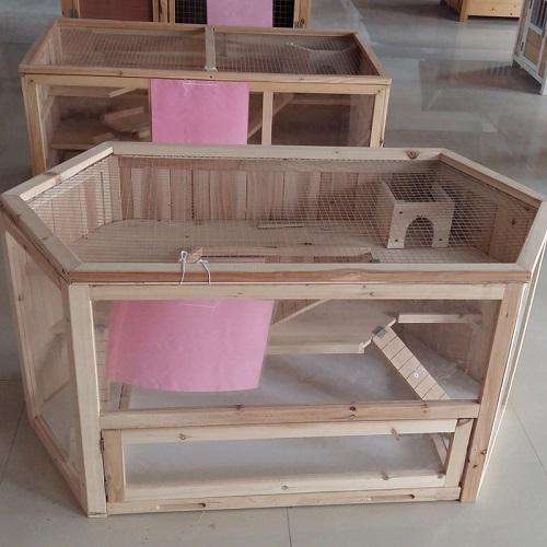 Wooden hamster cage - Wooden rhombus