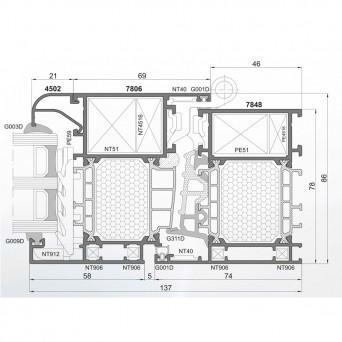 PONZIO PE 78N HI fenster - Aluminiumfenster