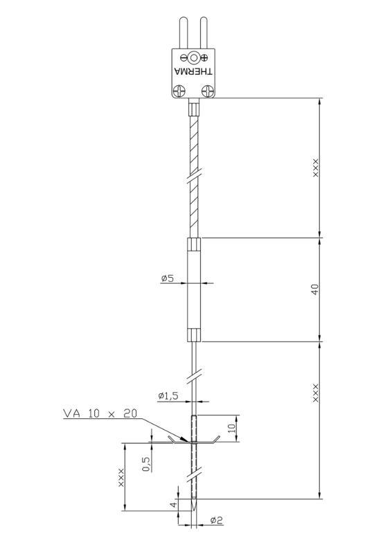Dipstick-thermocouple | Fibreglass | Type K - Dipstick-Thermocouples