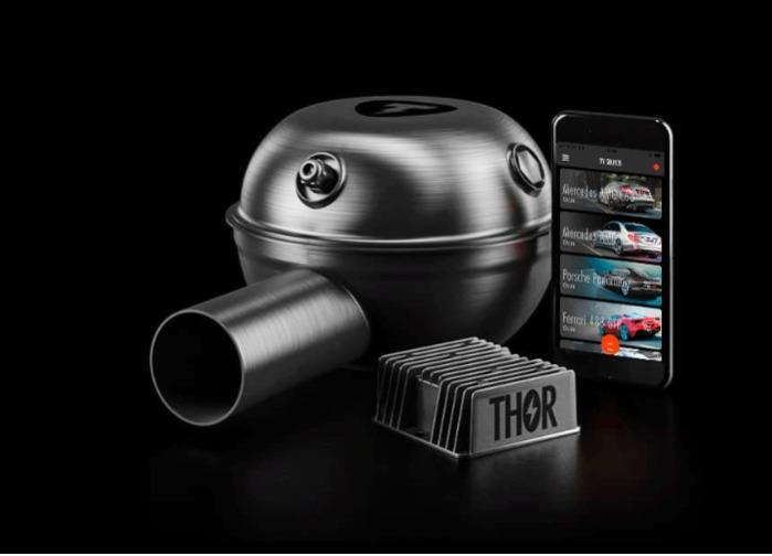 Thor electronic exhaust system - 1 loudspeaker - 80 db sound, is similar to the sound of BMW M3 exhaust system