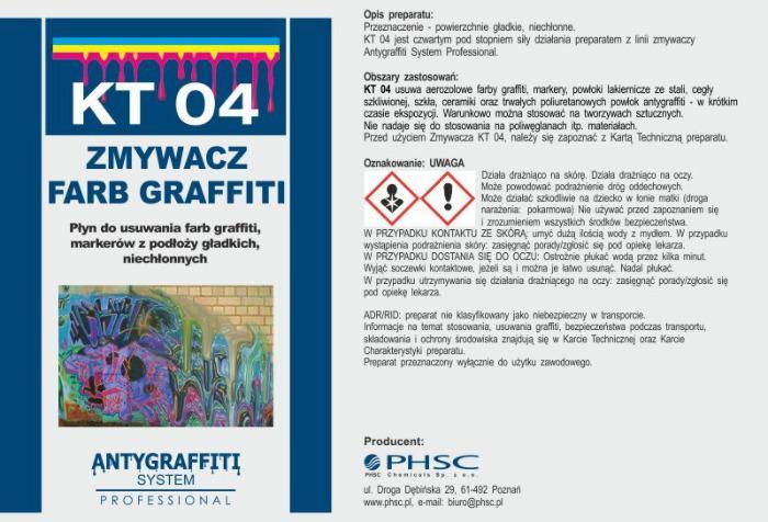 KT 04 - Zmywacz farb graffiti -