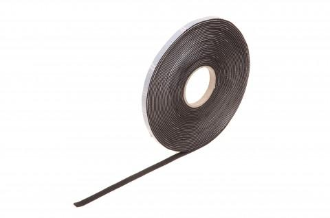 rolls of EPDM foam rubber, black, 2 mm thick 10 m : 9 mm - made from Steierform 87-71912, Rubber Tape