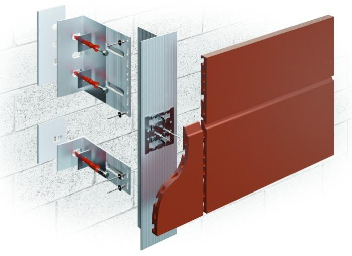 ALT-FASAD А/ТR - With an air gap for cladding with hollow ceramic facade panels