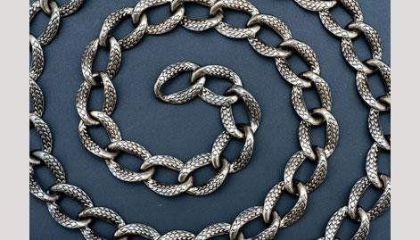 catena in lega metallica - null