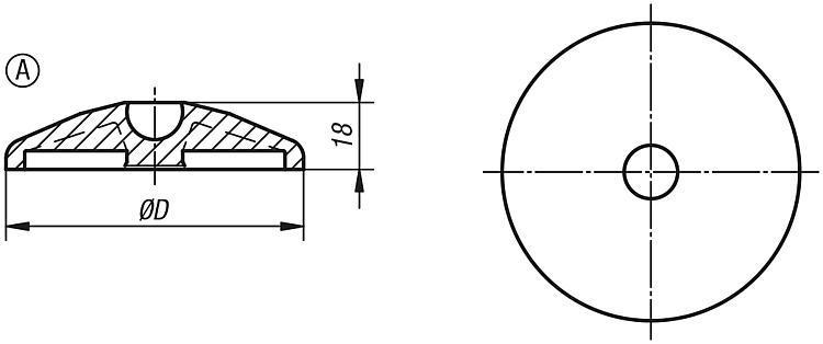 Supporti piani per piedini articolati in plastica - K0415