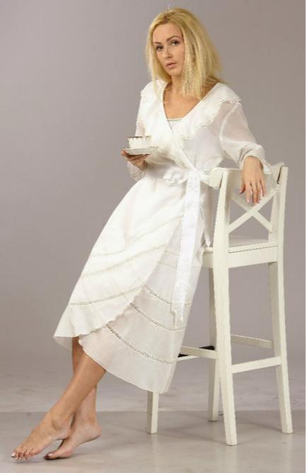 Wrap  cotton peignoir -