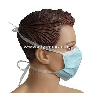 Máscara facial de 3 capas con lazos -