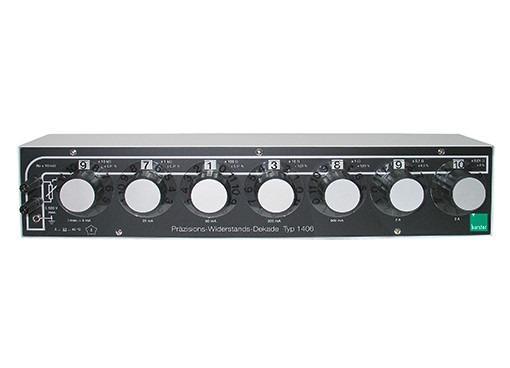 电阻十进位箱 - 1406, 1407 - 电阻,高精度,高要求,温度/长期,长期稳定性1406、1407
