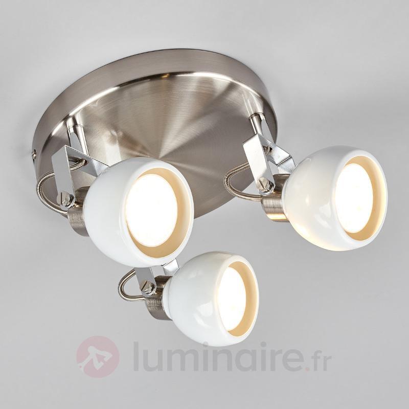 Plafonnier LED rond Nima, GU10 - Spots et projecteurs LED