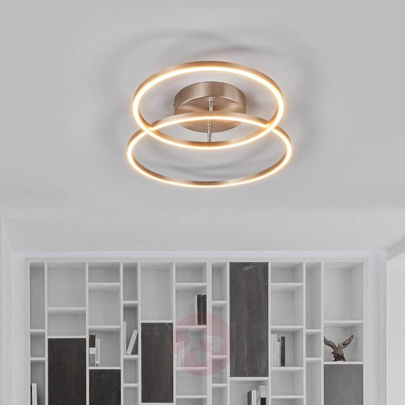 Two overlapping rings - the Elmo LED ceiling lamp - Ceiling Lights