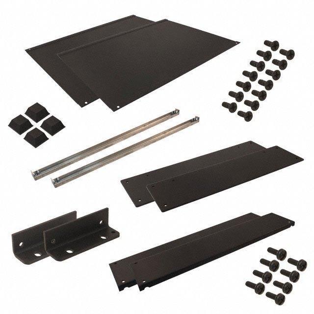 RACK ALUM 13X17X3.5 BLK - Hammond Manufacturing RMCS190313BK1