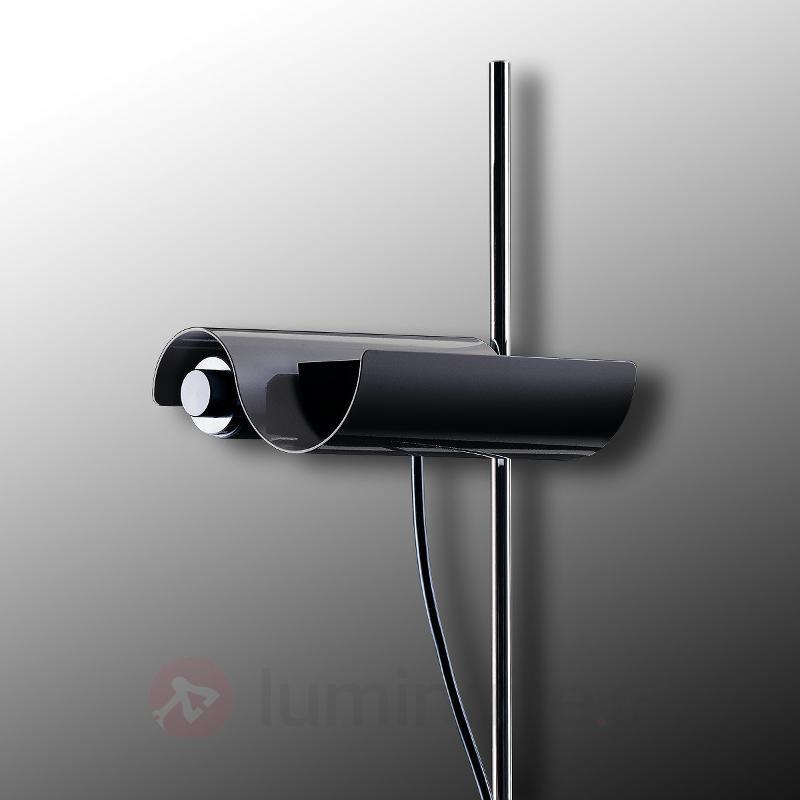 Lampadaire Dimitri à profil ondulé noir - Lampadaires design