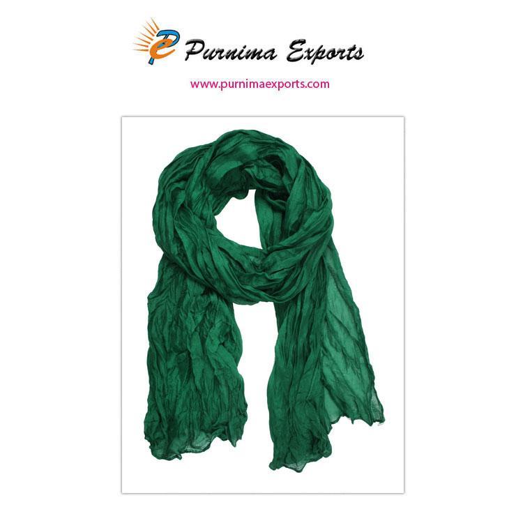 foulard en soie vert foncé -
