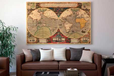 Χάρτες αντίκα - Διακόσμηση για το σπίτι ή το γραφείο